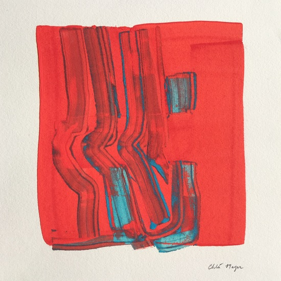 "COAST 8, Chloé Meyer, original artwork, 10""x 11.25"", ink on paper"