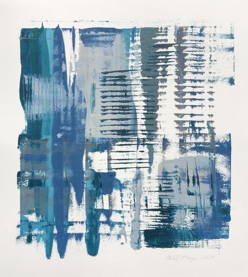 "MIST 4, Chloé Meyer original art, 10""x 11"", ink on paper"