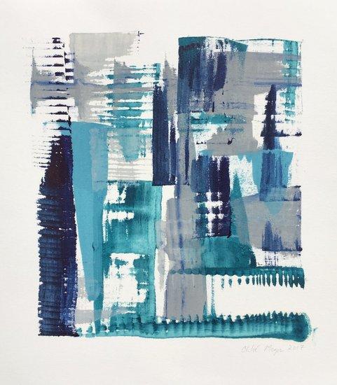 "MIST 6, Chloé Meyer original art, 10"" x 11"", ink on paper"