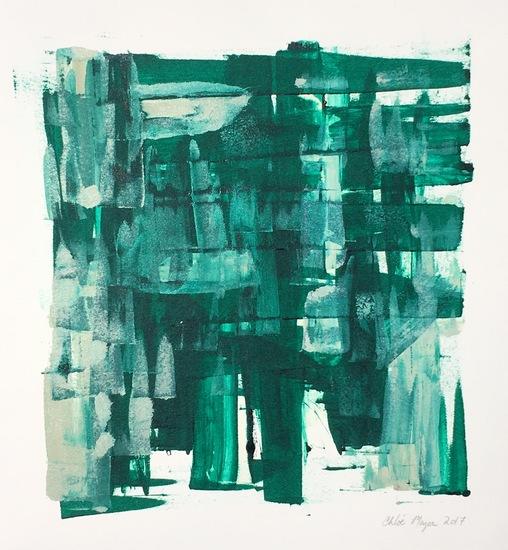 """COCKTAILS 2, Chloé Meyer, original artwork, 10"""" x 11"""", ink on paper"""
