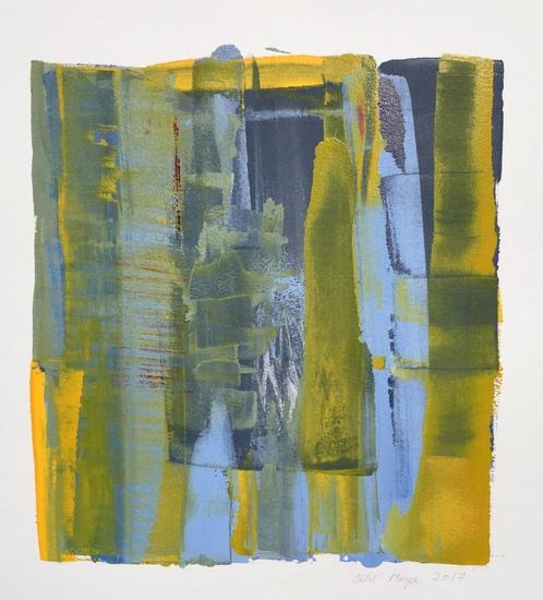 "SPLASH 3, Chloé Meyer original art, 10.25"" x 11"", ink on paper"