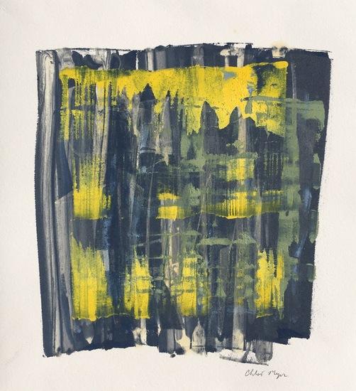 "SPLASH 11, Chloé Meyer original art, 10"" x 11"", ink on paper"