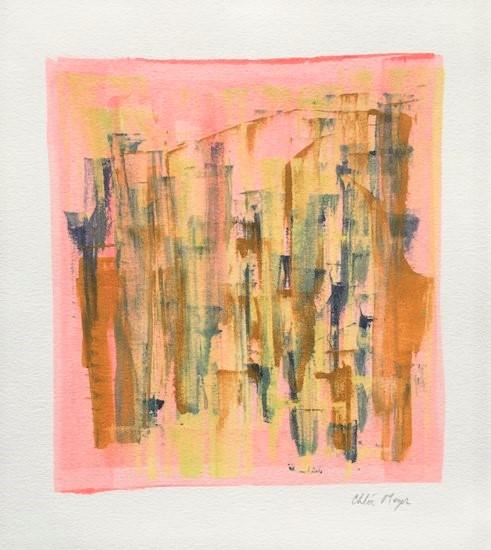 "SPACES 3, Chloé Meyer original art, 10"" x 11.25"""