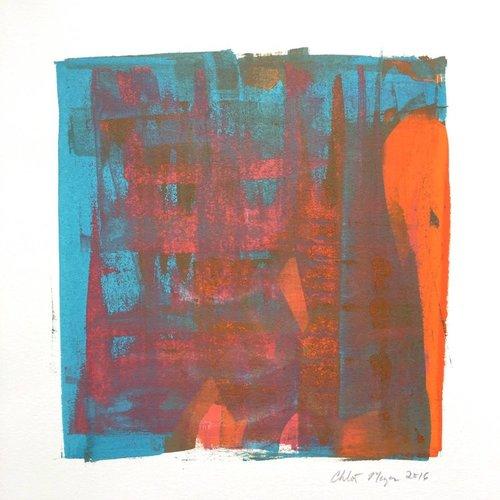 "PROGRAM 8, Chloé Meyer original art, 10"" X 11.25"", ink on paper"