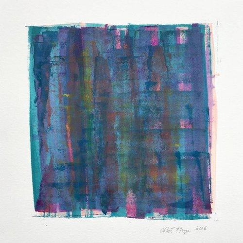 "BRIDGE 2, Chloé Meyer original art, 10"" X 11.25"", ink on paper"