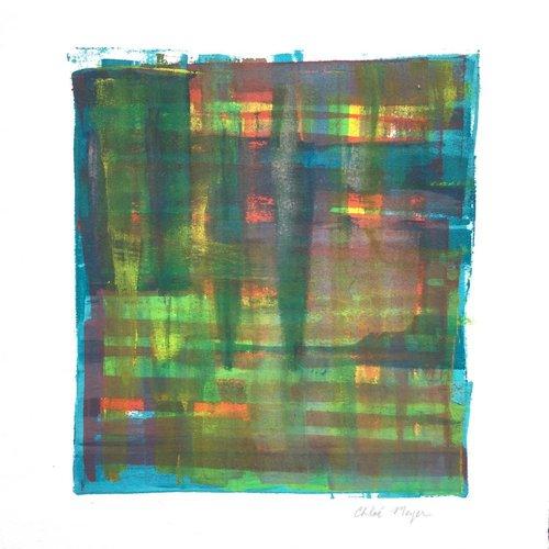 "LOOKING 3, Chloé Meyer, original artwork, 9.25"" X 9.75"", ink on paper"
