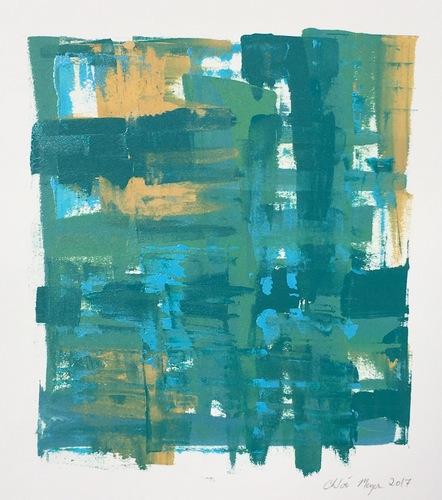 """COCKTAILS 4, Chloé Meyer, original artwork, 10"""" x 11.25"""", ink on paper"""
