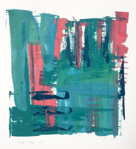 """COCKTAILS 6, Chloé Meyer, original artwork, 10"""" x 11.25"""", ink on paper"""
