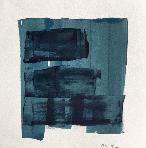 "MIST 9, Chloé Meyer original art, 10"" x 11"", ink on paper"