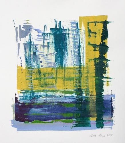 "SPLASH 2, Chloé Meyer original art, 10"" x 11"", ink on paper"