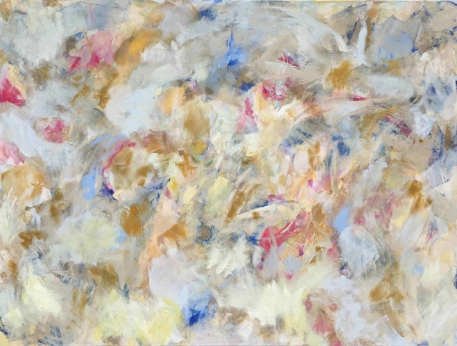 "Sold - LAUREN'S SANCTUARY, Chloé Meyer original art, 36"" x 48"", abstract oil painting on canvas"