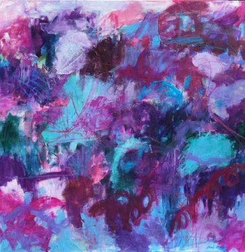 New River, original abstract art by Chloé Meyer