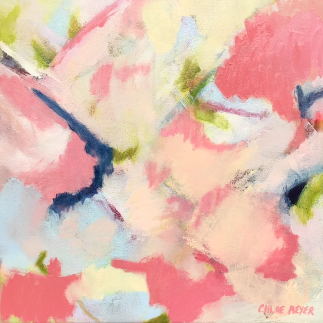 "I INVITE YOU TO EXAMINE, Chloé Meyer original artwork, 20"" x 20"", abstract oil painting on canvas"