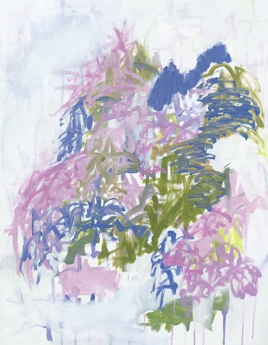 "GARDEN FOLLY 2, Chloé Meyer original art, 22"" x 28"", abstract oil painting on canvas"