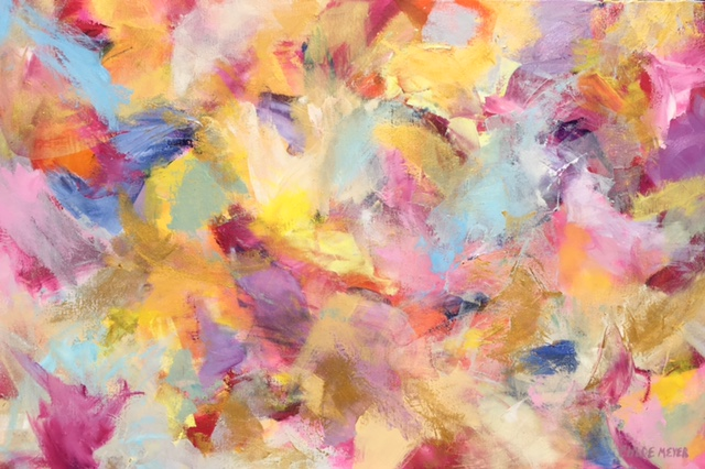 "PRIZES, Chloé Meyer original artwork, 24"" x 36"", abstract oil painting on canvas"
