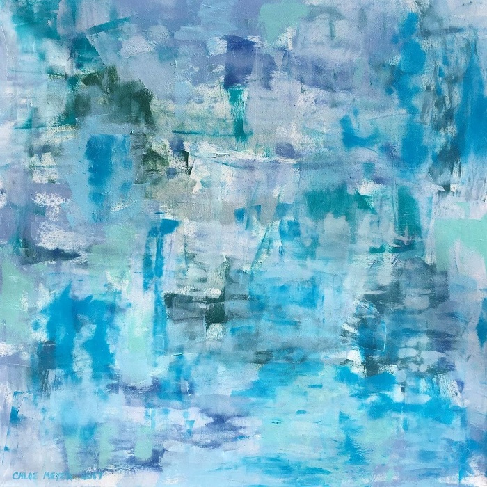 "FANTASY, Chloé Meyer original art, 24"" X 24"", abstract oil painting on canvas"