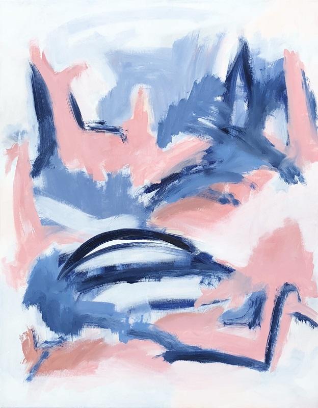"GARDEN FOLLY 4, Chloé Meyer original art, 22"" x 28"", abstract oil painting on canvas"