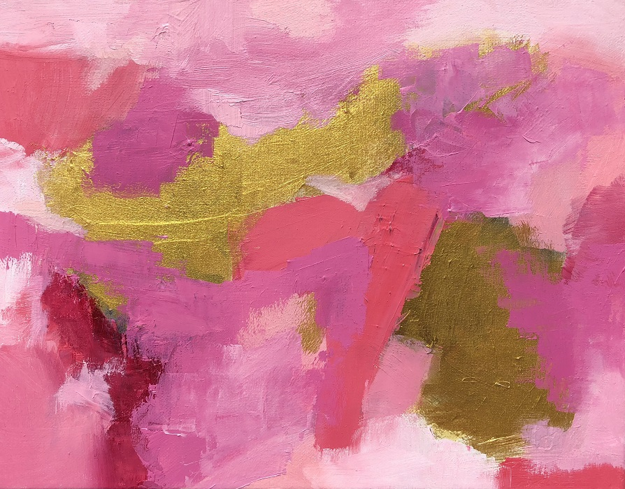 "SUMMER STAR, Chloé Meyer original art, 14"" x 11"", abstract oil painting on canvas"