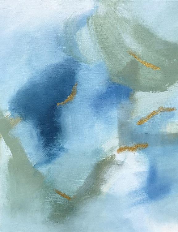 "HIDDEN GEM, Chloé Meyer original art, 11"" x 14"", abstract oil painting on canvas"