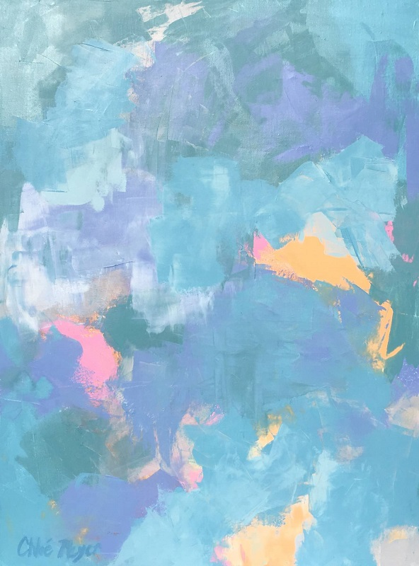 """EXCEEDING EXPECTATIONS, Chloé Meyer original art, 18"""" x 24"""", abstract oil painting on canvas"""