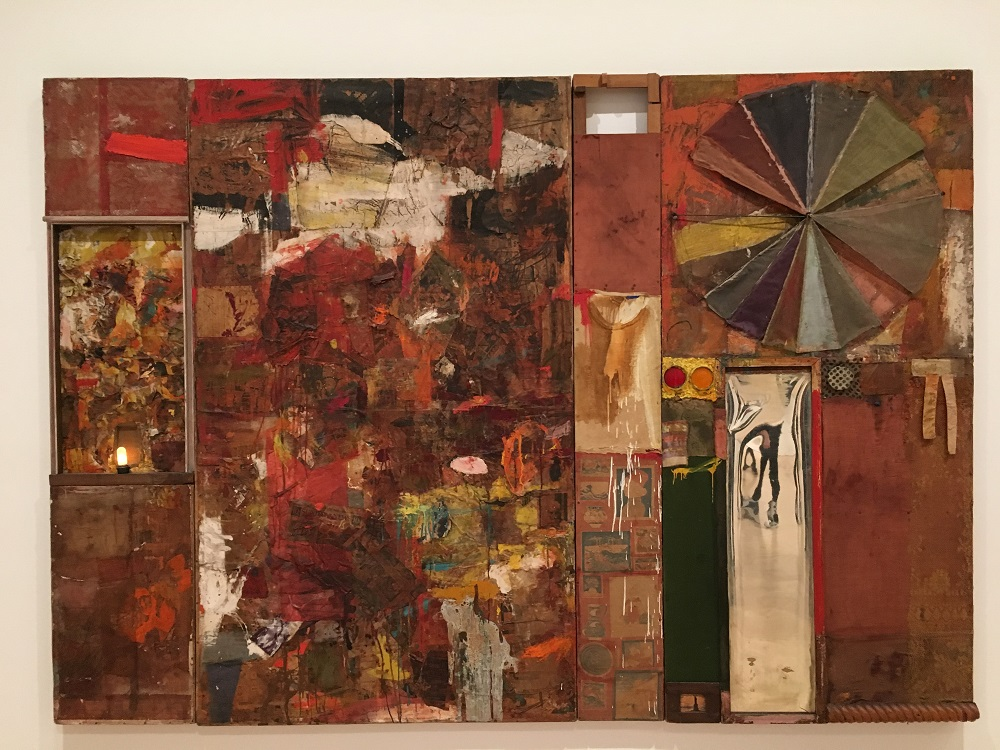 A very large Artwork by Robert Rauschenberg, exhibit at San Francisco Museum of Modern Art image credit Chloe Meyer