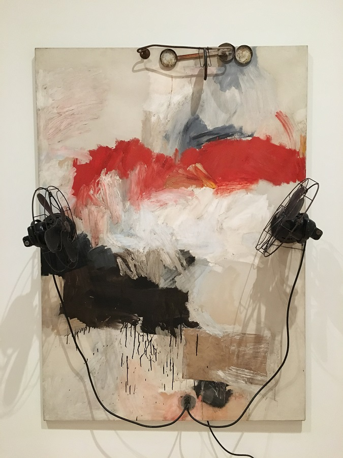 Artwork by Robert Rauschenberg at museum in San Francisco , image credit Chloe Meyer