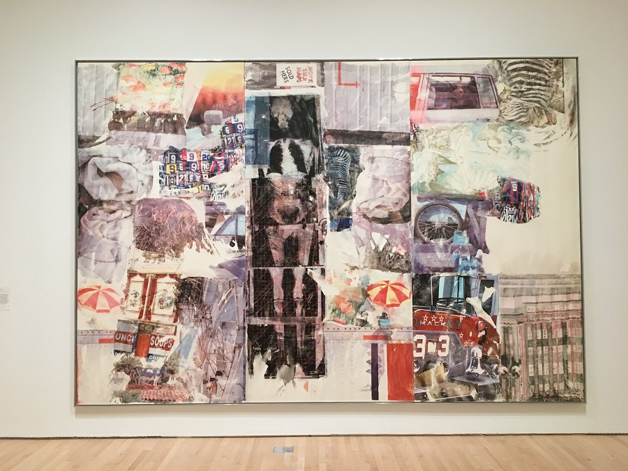 Massive art by Robert Rauschenberg, image credit Chloe Meyer