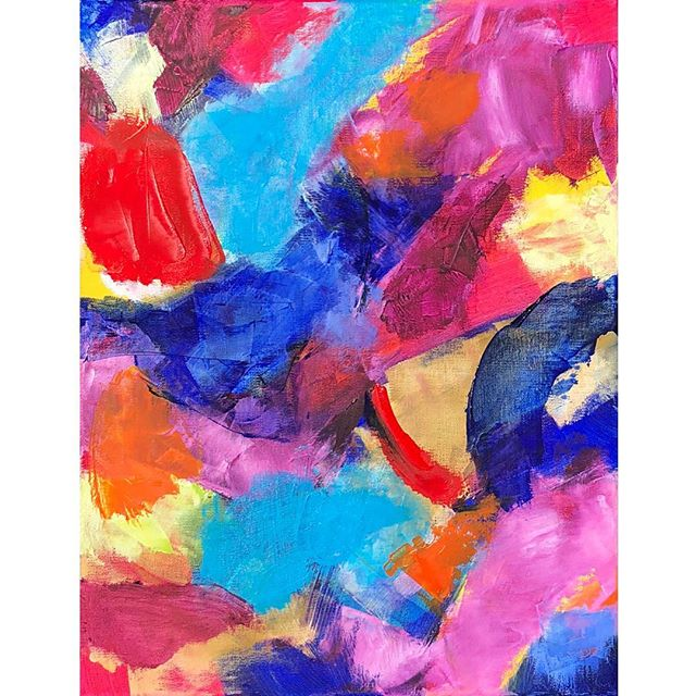 """Here's a BEAUTIFUL thought.... """"Creativity is not a mood. It's the very nature of God inside you."""" --Jan McCollam 💗💗 I love that so much! Whatever you do to express your creativity, be it writing or cooking or gardening or music, do it with love. 💕💕💕 . About the art: an original abstract oil painting, made with 💕 love, by me! 👩🏻🎨Available on my website. . . . #abstractpainting #abstractexpressionism #chloemeyerart #contemporarypainting"""