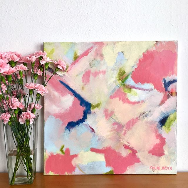 Can you believe it's the middle of May already? I hope you're enjoying the flowers of Spring! . This painting is available on my website. Link in bio. . DM me and I'll add you to my newsletter so you'll be the first to know about upcoming releases and show! 💌 . . . . .  #Chloemeyerart #interiorstylist #smmakelifebeautiful #interiorlove #vogueliving #myhomestyle