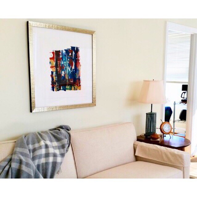 Seeing my artwork proudly displayed in a collector's home is such a tremendous feeling. I'm filled with gratitude and appreciation! 💕 Thank you! . (Private collection in San Francisco, CA) . DM me and I'll add you to my newsletter 💌 and you'll be first to know about new artwork! . . . #decorlovers #dream_interiors #livingroomdesign #livingroominspo #onlyinterior