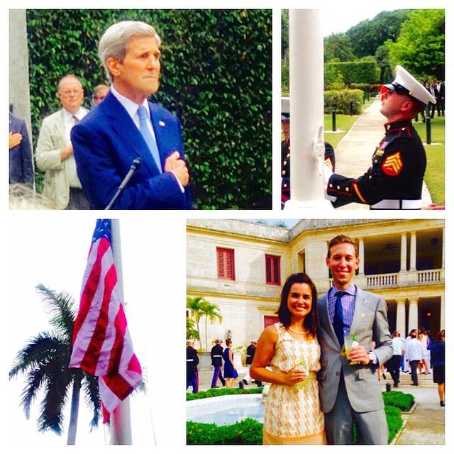 08.14.15 Flag Raising Ceremony at U.S. Ambassador's Residence in Havana