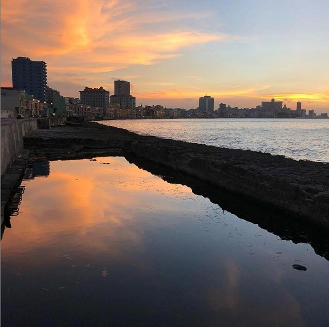 Nothing beats the sunsets on the Malecón! ☀️ #Havana #Cuba #StayEngaged  Photo: @cubasarahmarsh