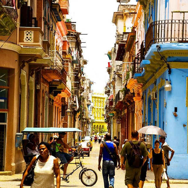 Havana has the balcony thing down, that's for sure! Did you know that the narrow streets in Old Havana were designed to only let the hot sun in for a few hours a day? #cuba