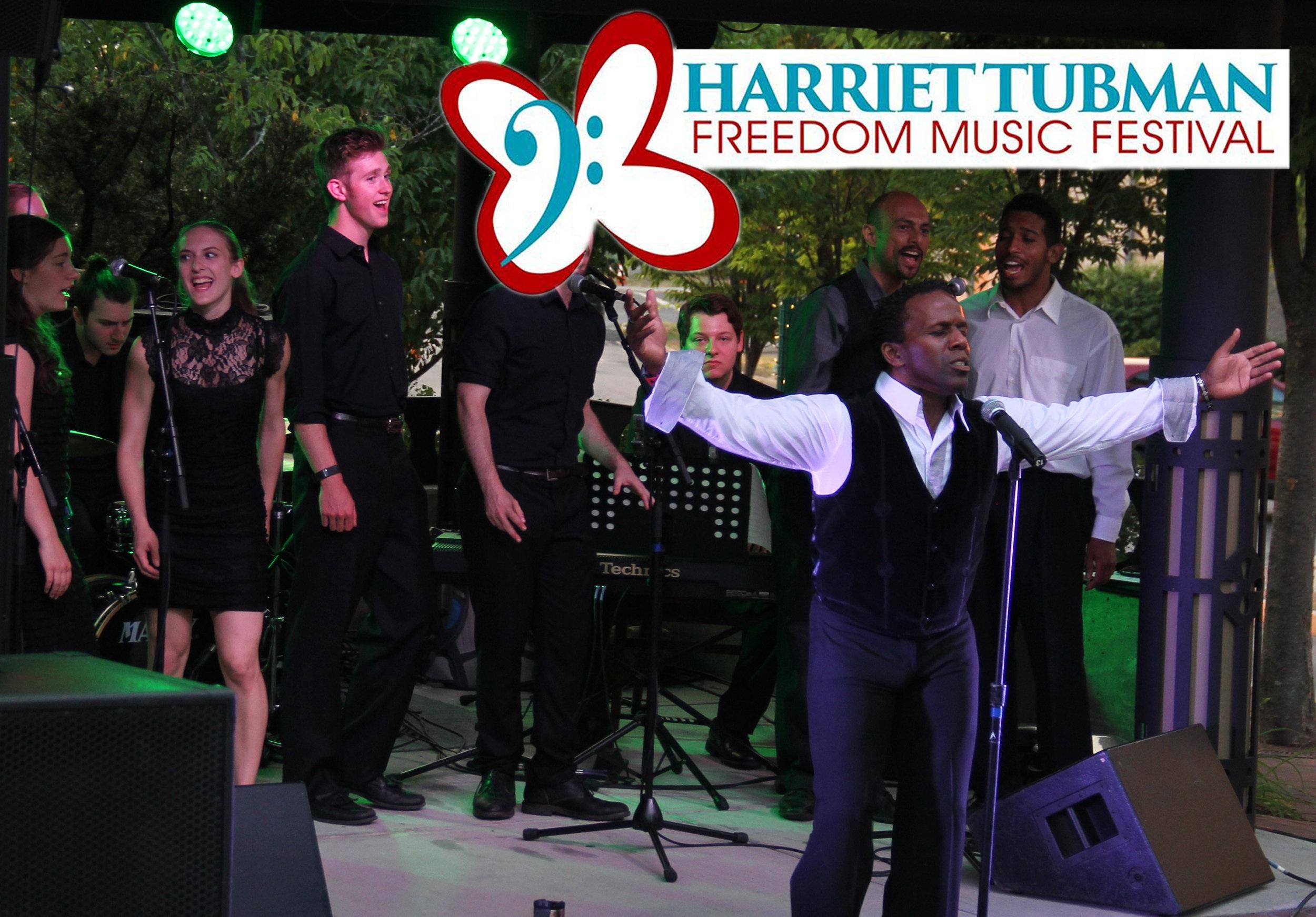 Harriet Tubman Freedom Music Festival - Sean McLeod - Arms Out - Logo.jpg