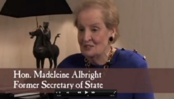 Former Secretary of State Madeleine Albright joined a host of Nichols customers who shared their experiences stories about the beloved hardware store.