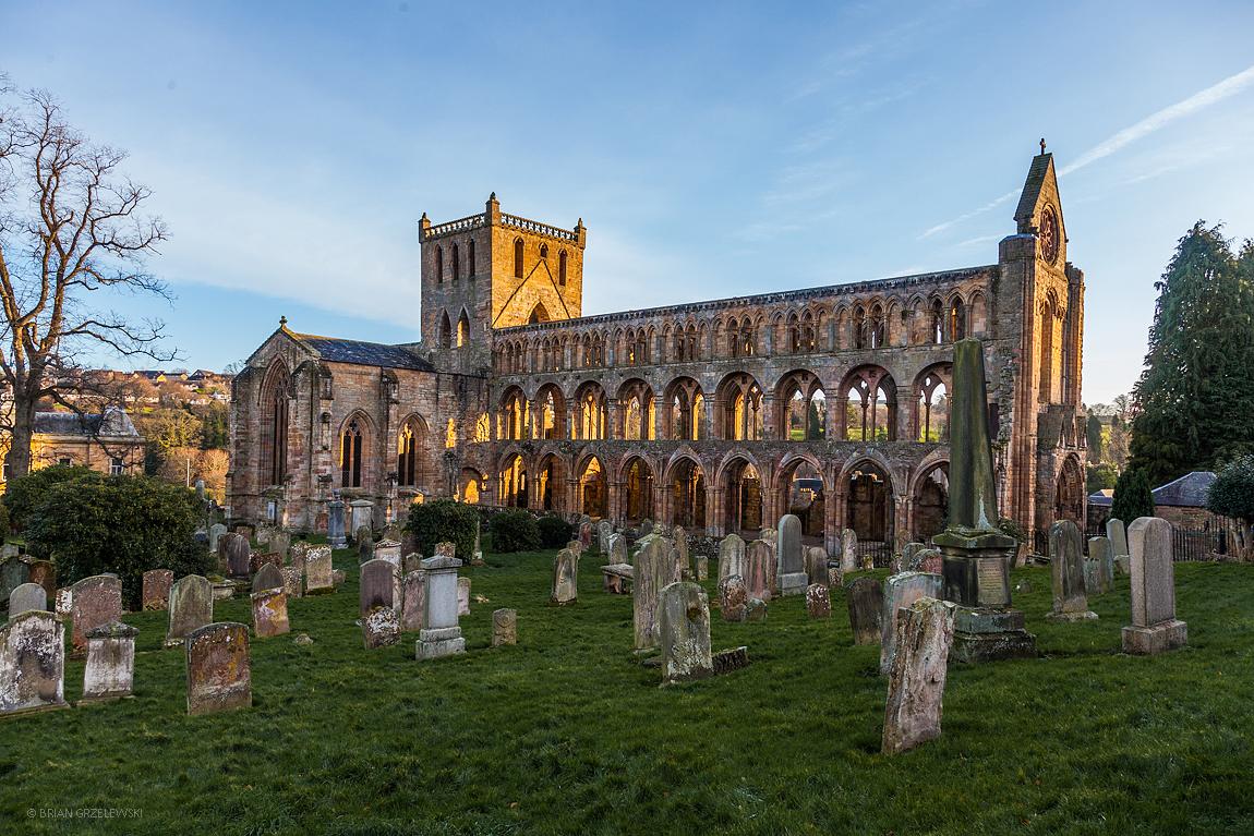 Jedburgh Abbey Cemetary,   Scotland, Photo by Brian Grzlewski