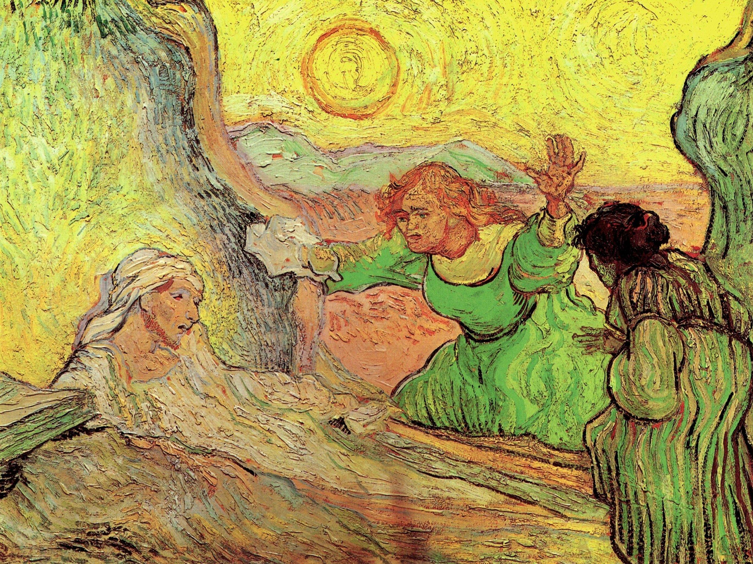 The Raising of Lazarus after Rembrandt, Vincent Van Gogh, 1890.