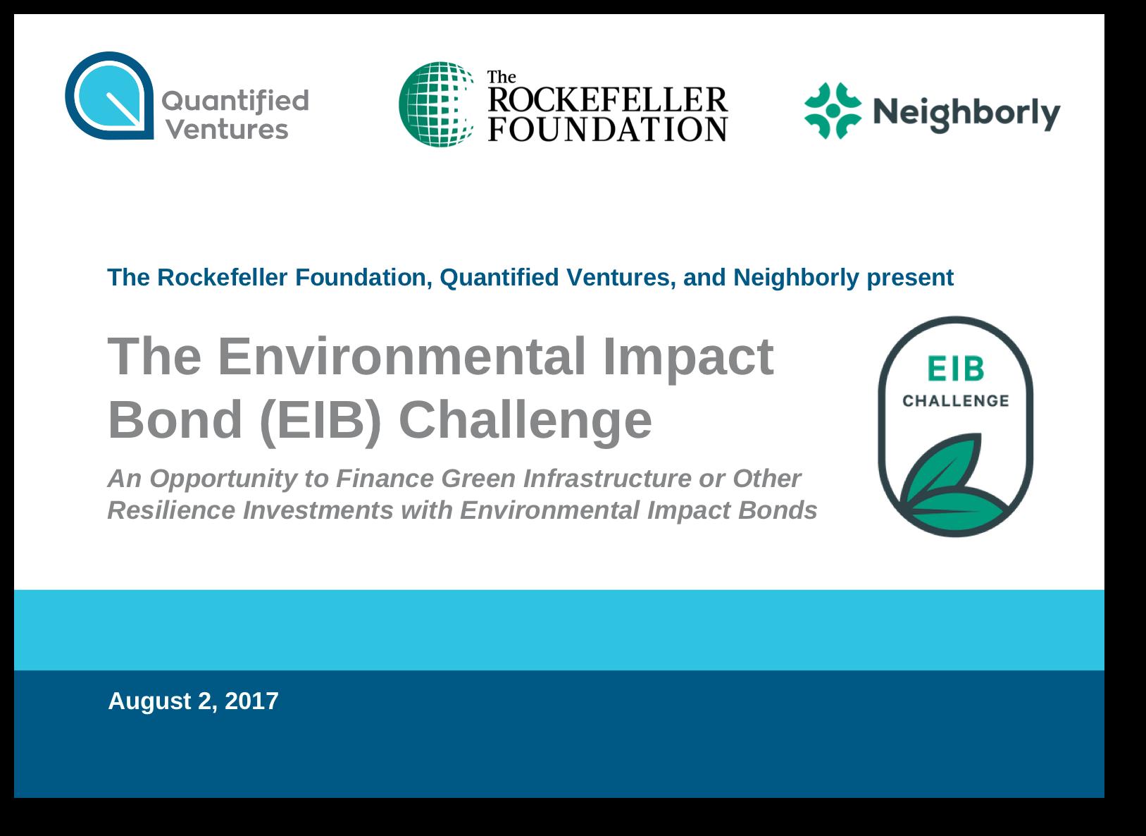 8/2/17 Webinar on EIB Challenge and RFP Process