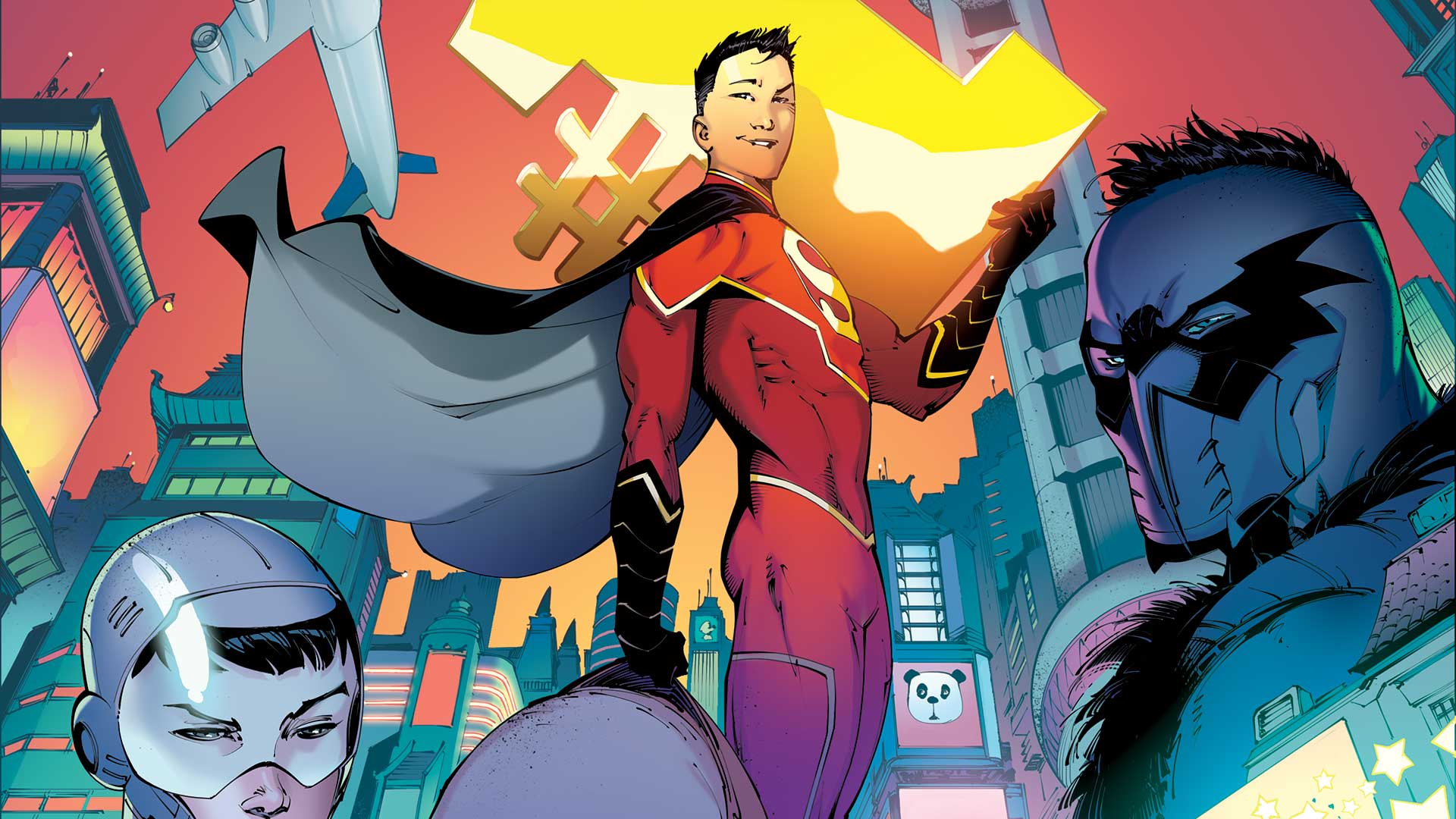 The newest iteration of Super-Man is a Chinese teenager named Kenan Kong. He was created by Gene Luen Yang, who discusses how Kenan came to be in this  interview on National Public Radio . Image source:  DC Comics