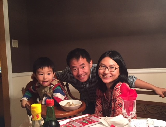 Princeton PhD scholar Xiyue Wang, wife Hua Qu, and son Shaofan. Wang was taken prisoner in Iran while conducting historical research.