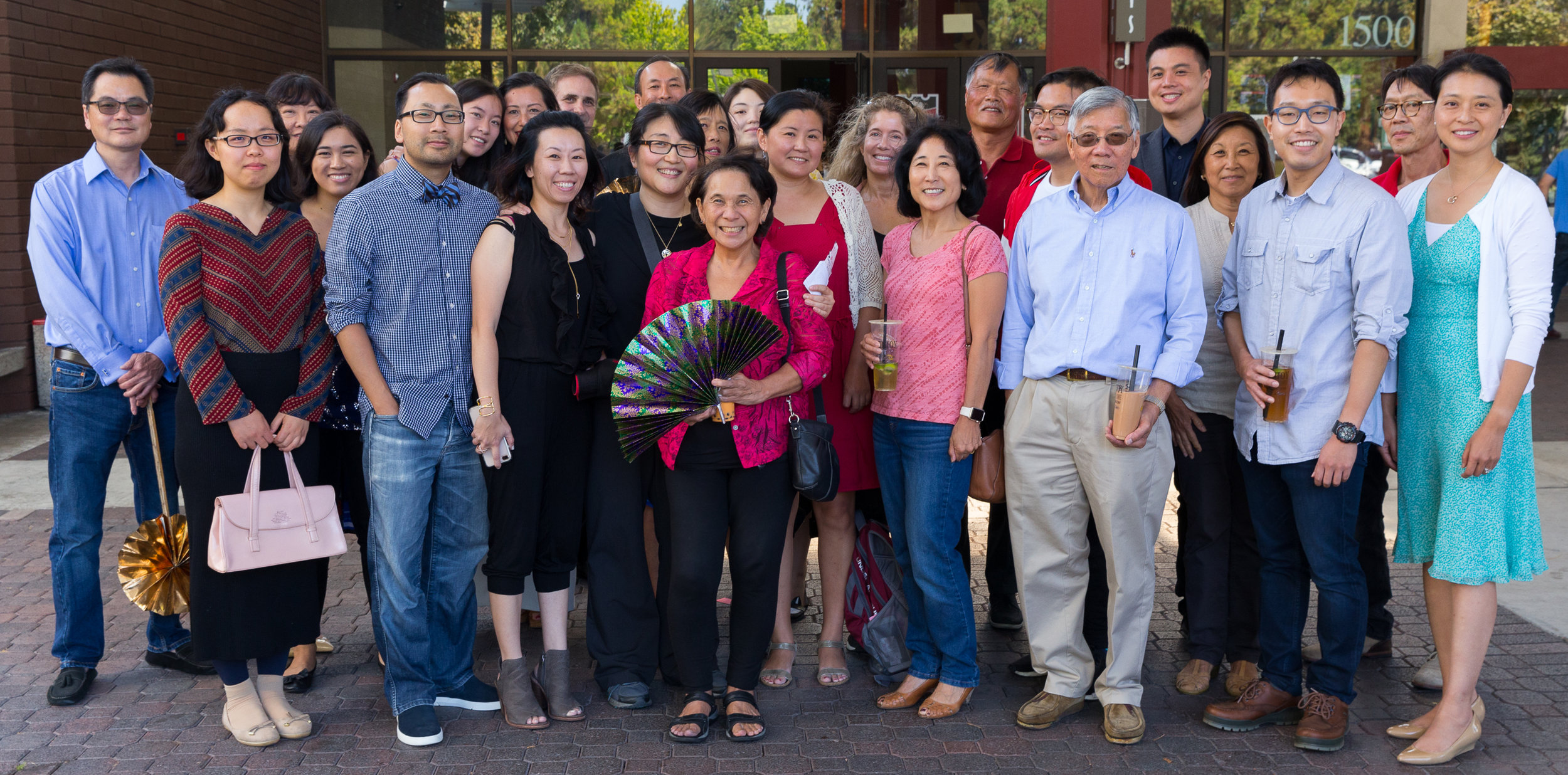 "SAPAAC members in the Bay Area support a #GoldOpen for ""Crazy Rich Asians"" Photo by Roger Chen."