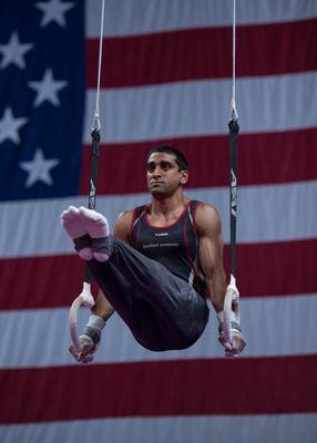 Akash Modi '17, MS '19 competes at the 2018 U.S. Gymnastics Championships