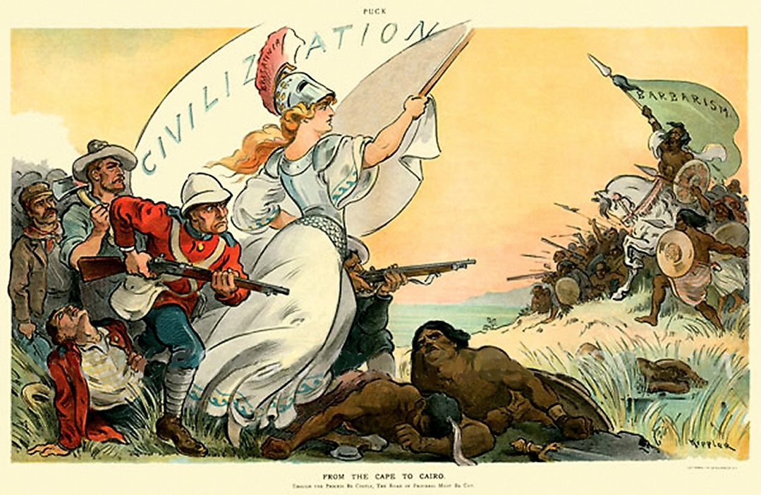 Late 19th century cartoon depicting the British reconquest of the Sudan. Source:  http://teachmiddleeast.lib.uchicago.edu/historical-perspectives/middle-east-seen-through-foreign-eyes/islamic-period/image-resource-bank/image-07.html