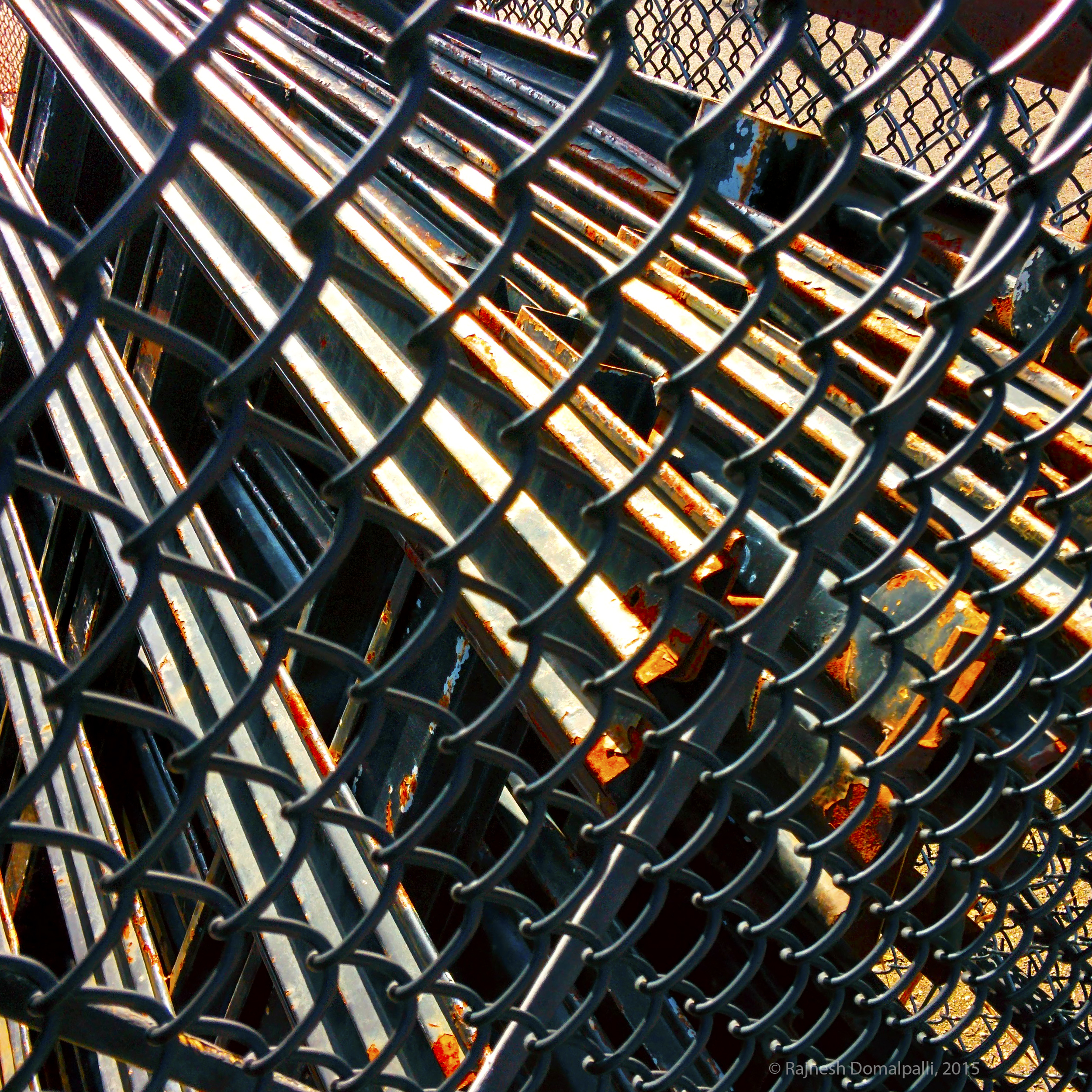 Chain Link Fence With Pipes