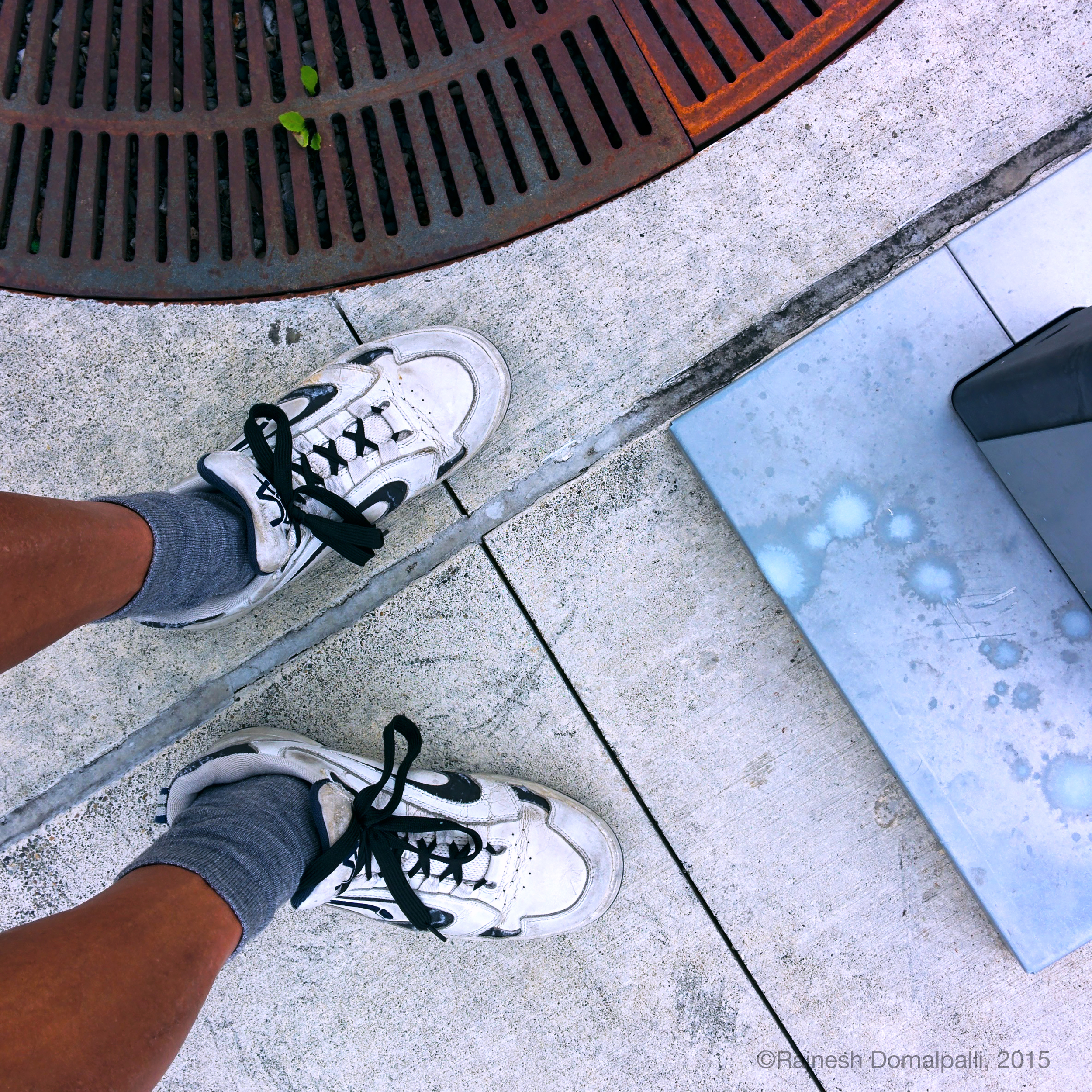 Grate with Sneakers