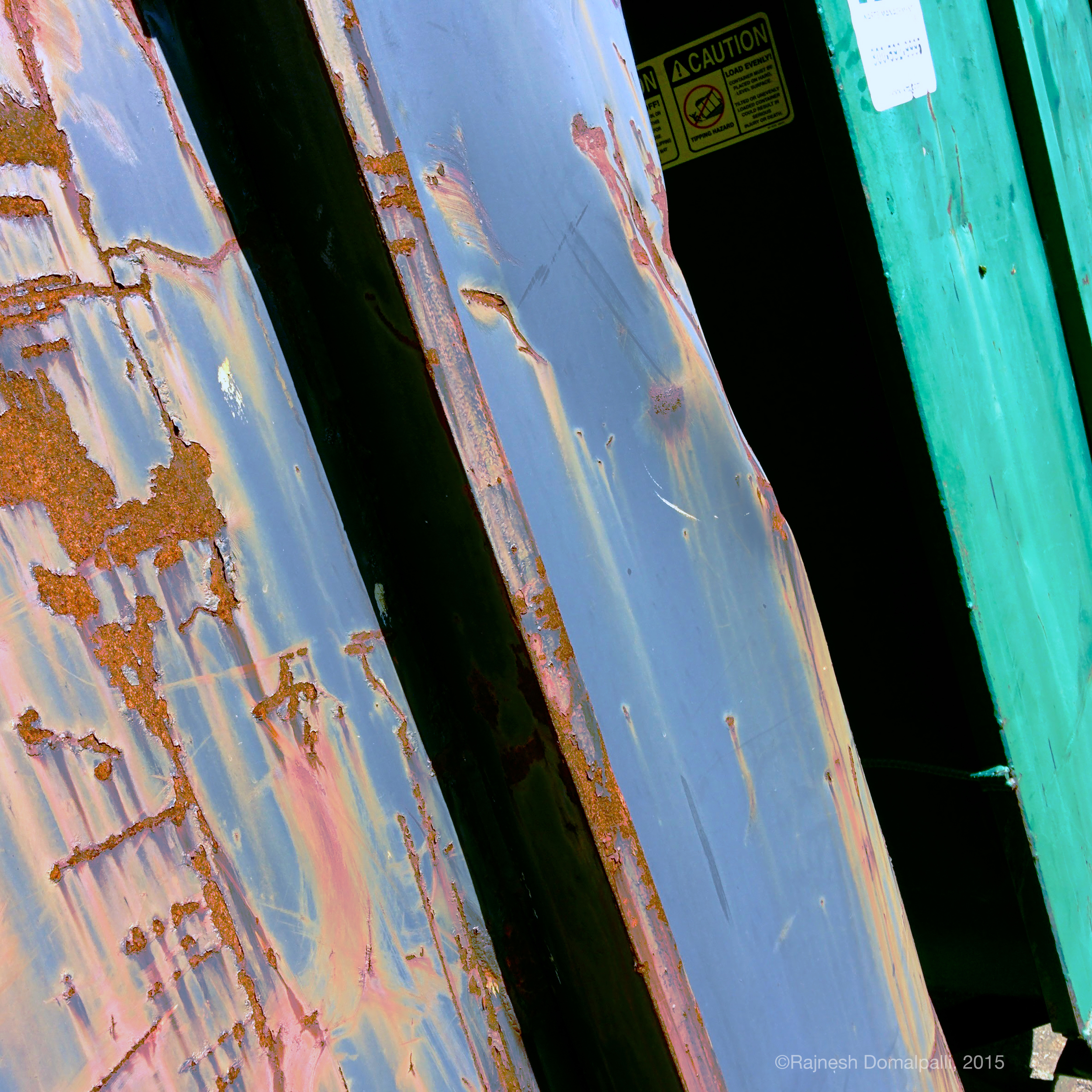 Rusted Recycling Bins