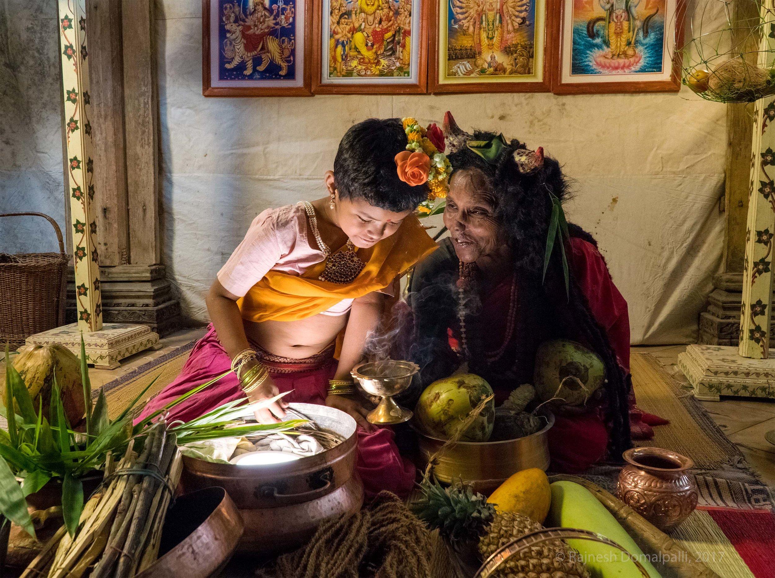 Mangi and Sarga examine Magical Eggs