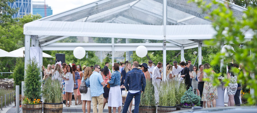 1. It's A Garden Party Every Day - Rain or shine, our patio is hopping!