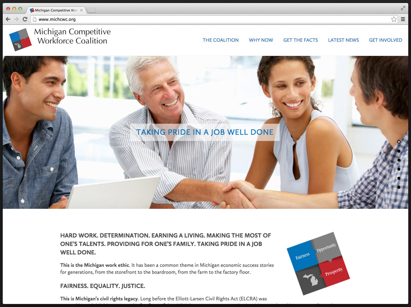 Michigan Competitive Workforce Coalition website