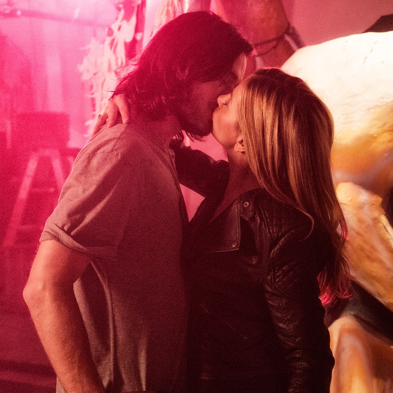 Christopher Backus and Mira Sorvino in  Indiscretion